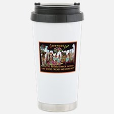 Wisconsin Greetings Stainless Steel Travel Mug