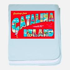Catalina Island Greetings baby blanket