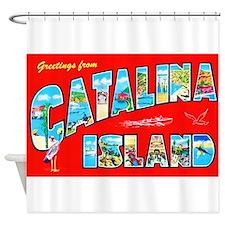 Catalina Island Greetings Shower Curtain