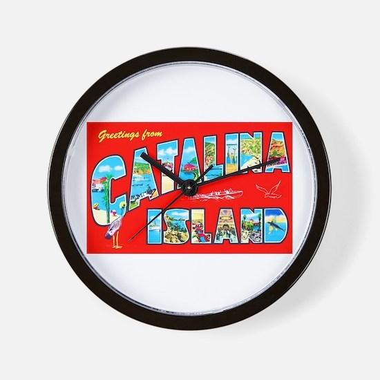 Catalina Island Greetings Wall Clock