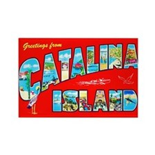 Catalina Island Greetings Rectangle Magnet