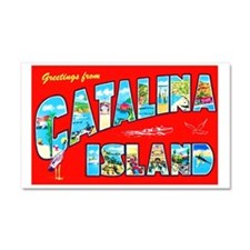 Catalina Island Greetings Car Magnet 20 x 12
