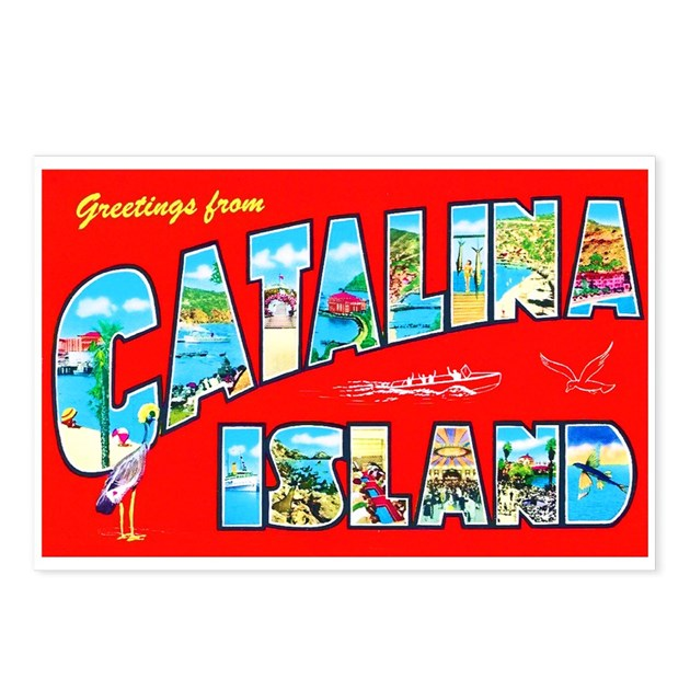 Catalina island greetings postcards package of by w arts