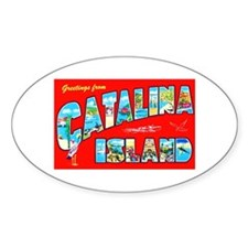 Catalina Island Greetings Decal