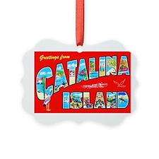 Catalina Island Greetings Ornament