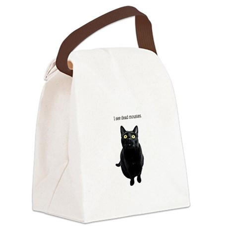 I See Dead Mousies Canvas Lunch Bag