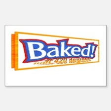 Baked @ 420 degrees Rectangle Decal