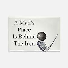 Golf Iron Humor Rectangle Magnet