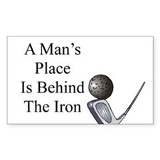 Golf Iron Humor Rectangle Decal