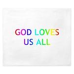 GOD LOVES US ALL King Duvet