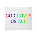 GOD LOVES US ALL Throw Blanket