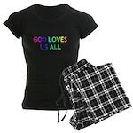 GOD LOVES US ALL Women's Dark Pajamas