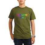 GOD LOVES US ALL Organic Men's T-Shirt (dark)