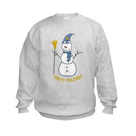 Happy Snowman Kids Sweatshirt