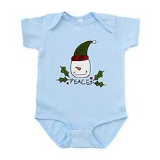 Peace Snowman Infant Bodysuit