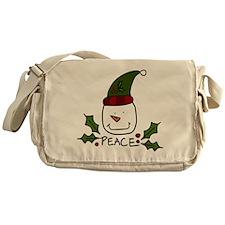 Peace Snowman Messenger Bag