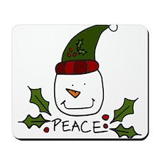 Peace Snowman Mousepad