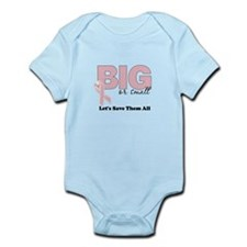 Big or Small Lets Save Them All Infant Bodysuit