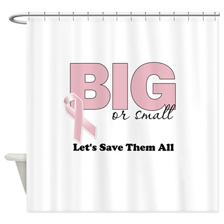 Big or small lets save them all shower curtain by for Shower curtain savers