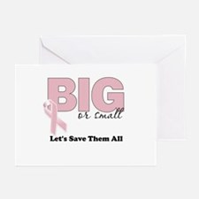 Big or Small Lets Save Them All Greeting Cards (Pk