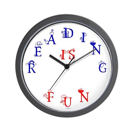 I LOVE READING! Wall Clock