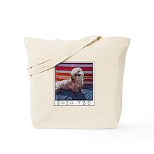 Shih Tzu Pop Art Lily Tote Bag