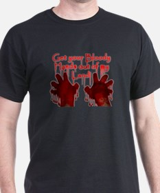 Get out of my land! Black T-Shirt