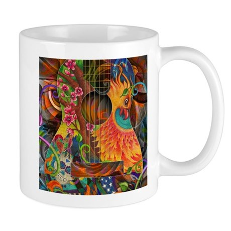 Phoenix Bird of Fire Guitar Mug