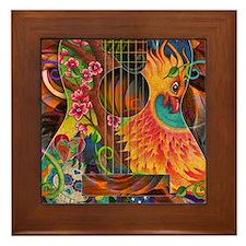 Phoenix Bird of Fire Guitar Framed Tile