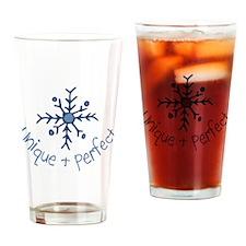 Unique Snowflake Drinking Glass