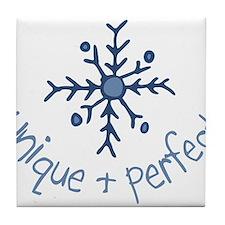 Unique Snowflake Tile Coaster