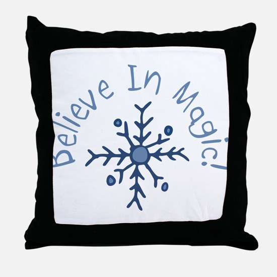 Magic Snowflake Throw Pillow