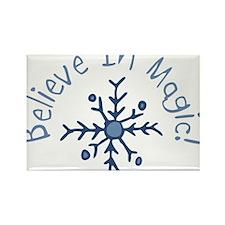 Magic Snowflake Rectangle Magnet
