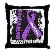 Grunge Lupus Awareness Throw Pillow