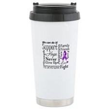Lupus Support Words Stainless Steel Travel Mug