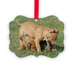 cutepupscropped.jpg Picture Ornament