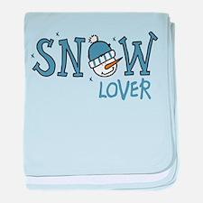 Snow Lover baby blanket