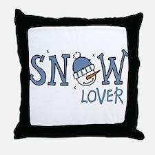 Snow Lover Throw Pillow