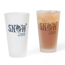 Snow Lover Drinking Glass