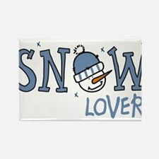Snow Lover Rectangle Magnet