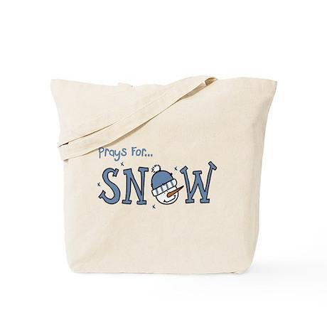 Prays For Snow Tote Bag