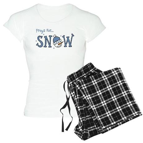 Prays For Snow Women's Light Pajamas