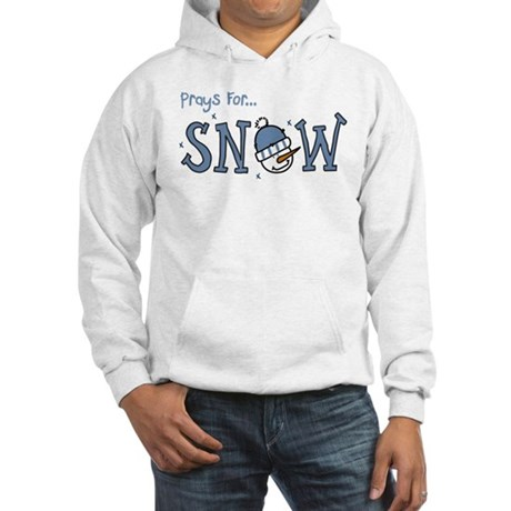 Prays For Snow Hooded Sweatshirt