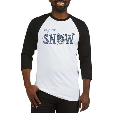 Prays For Snow Baseball Jersey