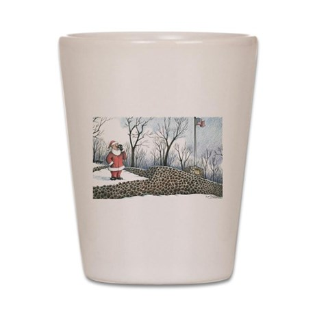 Santa: Washington Rock, Green Brook NJ Shotglass