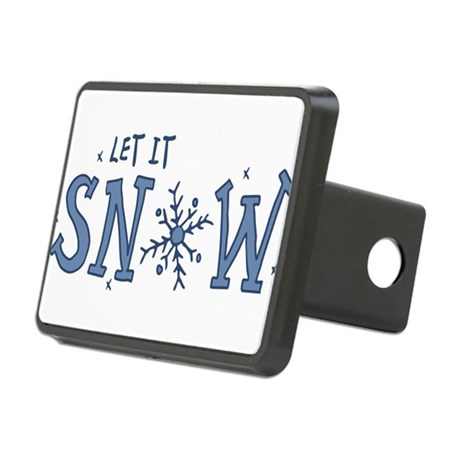 Let It Snow Rectangular Hitch Cover