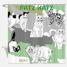 Fatz Katz Shower Curtain