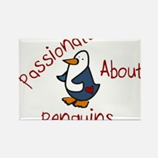 Passionate Penguin Rectangle Magnet