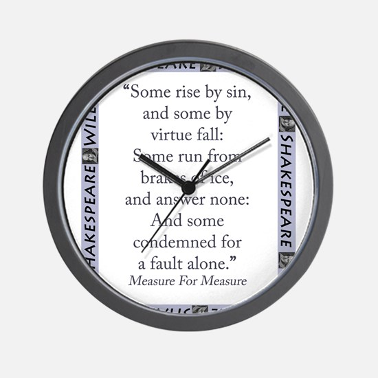 Some Rise By Sin Wall Clock