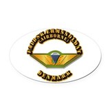 Airborne Oval Car Magnets